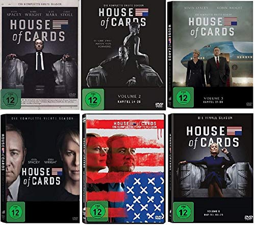 House of Cards Staffel 1-6 Die komplette Serie (1+2+3+4+5+6, 1 bis 6) [DVD Set]