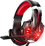BENGOO G9000 Stereo Gaming Headset for PS5 PS4, PC, Xbox One Controller, Noise Cancelling Over Ear Headphones with Mic, LED Light, Bass Surround, Soft Memory Earmuffs for Laptop Mac Nintendo PS3
