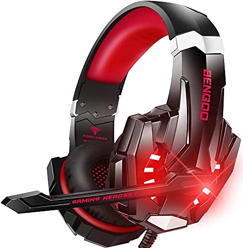 BENGOO Gaming Headset (Red)