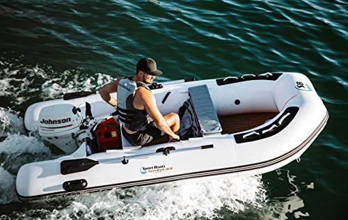 Inflatable Sport Boats - Swordfish 10.8' - Model SB-330A - New 2021 Release - Air Deck Floor Premium Heat Welded Dinghy with Seat Bag