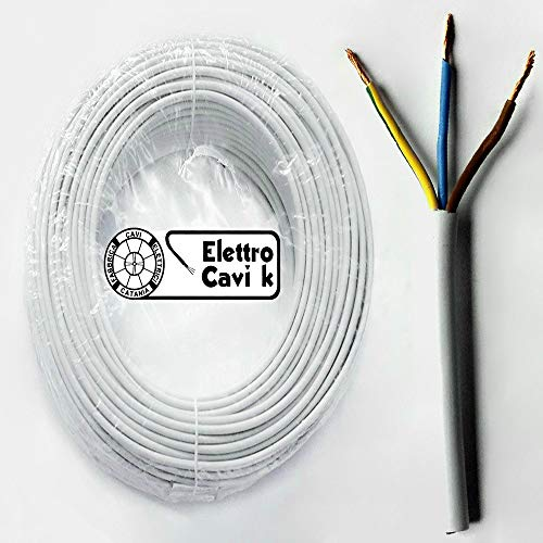Electraline 11781 Couronne de Cable H05 VV-F 3G1,5 10M Blanc
