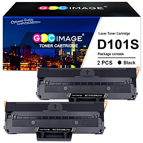 GPC Image MLT-D101S Compatibili per Samsung D101S Cartucce di Toner per ML-2160 ML-2165 ML-2168 SCX-3400 SCX-3405 SCX-3405FW SCX-3405F SCX-3405W ML-2161 ML-2165W ML-2168W SF-760P (Nero, 2-Pack)