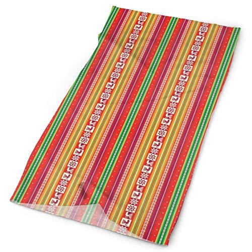 Magic Hoofddeksels Outdoor Sjaal Hoofdbanden Bandana, Oosterse Stijl Geometrische Patroon Met Bloemenbladeren Hartvormen,Masker Hals Gaiter Hoofd Wrap Mask Sweatband 9.84*19.69 inch Multi-colored 10