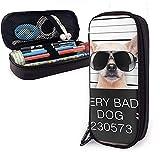 Astucci Creative Dogs Funny Chihuahua Glasse Cute Pen Pencil Case Leather Pouch Bag Pencil...