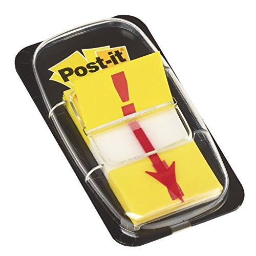 Post-it 680-33 Haftstreifen Index Symbol Ausrufezeichen ( 25,4 x 43,2 mm) 50 Streifen gelb