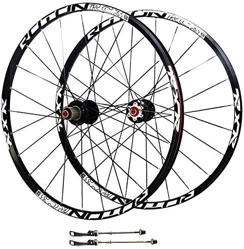 Ruedas Bicicleta llantas MTB 26 / 27.5In bicicletas de ruedas híbrido 24H Montaña ruedas de la bici MTB de doble pared del borde del freno de disco de lanzamiento de fibra de carbono ultraligero rápid