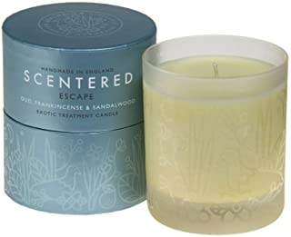 Scentered Escape Aromatherapy Scented Candle - Large - Frankincense, Sandalwood & Cedarwood Blend - Actively Encourages Feelings of Freedom, Peace & Space