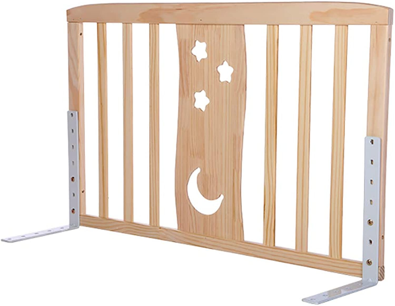 Playpen Playard Wood Infant Toddlers Bed Rail Guardrail, Adjustable Height Anti-Fall Bed Guard Assist Bar for King Size Bed (Size   Length 90cm)
