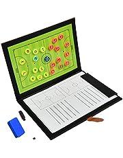 YOTINO Voetbal tactiekbord draagbare trainer tactische map coach-board opvouwbare professionele voetbal tactische map voetbal tactische map voetbal opvouwbaar t (gevouwen afmetingen: 32 x 25 cm)