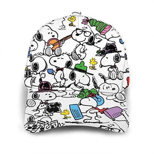 Cartoon Anime Snoopy Baseball Cap Hip Hop Hut für Männer Frauen Teens Schwarz Einstellbare Baseballmützen