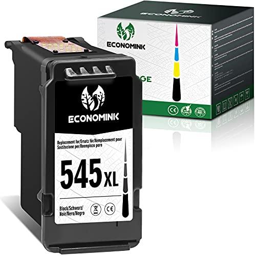 Economink Wiederaufbereitete Tintenpatrone als Ersatz für Canon PG-545XL 545 XL 545XL (1 Schwarz) für Pixma MX490 MX495 TR4550 MG2555S IP2850 TS205 TS3350 MG2550s TS3150 TS3450 MG2555 TS3151 Drucker