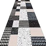 ZRUYI Alfombras De Pasillo Largo Entrada Felpudos Moqueta Corredor Resistente Al Desgaste Durable Patrones Geométricos Moderno Casa Alfombra del Piso, 2 Colores Personalizable