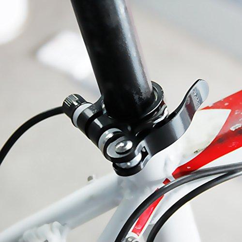 SODIAL(R) Schwarz Fahrrad Schnellverschluss Sattelstutze Klemme Binder 6 x 55mm Stab - 3