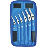 Bondhus 08-0421 00015 HEX-PRO Pivot Head Torx Wrench Set, Includes Sizes: T25, T27, T30, T40, T45 & T50 (6 Piece), Chrome