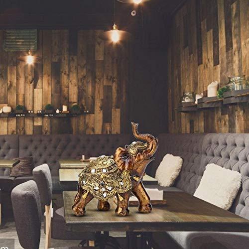 Tomantery Langlebige Harzverzierung, Dekoration im europäischen Stil, S/M/L TV-Schrankdekoration, für Kunstsammlung für Heimdekoration zur Wertschätzung für(Golden Tuba)