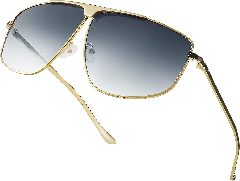 FEISEDY Retro 70s Aviator Sunglasses Columbus Mall Oversized Classic Trendy Fixed price for sale Sq