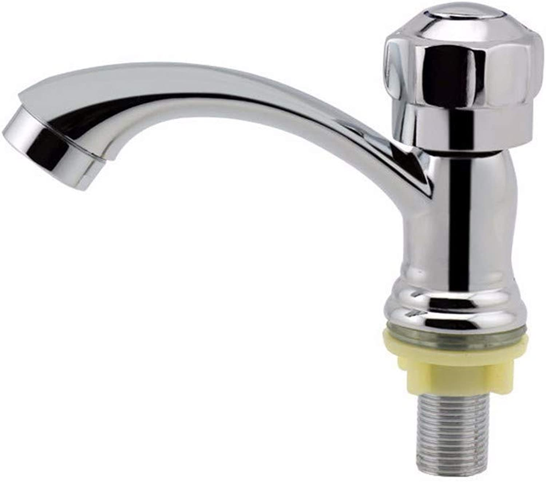 Yuanshuai88-Faucet Faucet single hole single cold copper greenical quick opening basin faucet