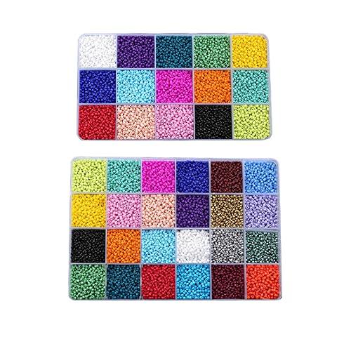 Cuentas de cristal pastel con cuentas de letras y cordón elástico para hacer joyas de pony, pendientes, pulseras y collares