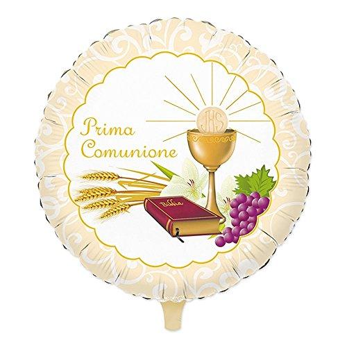 PALLONCINO MYLAR PRIMA COMUNIONE CALICE BIBBIA