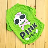HuntGold Genérico Esqueleto del perro de perrito del perrito ropa de la ropa Hoodies T Shirt-Suéter(Tamaño: S)