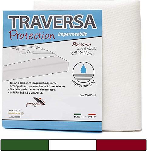 BabyTools Traversina Salvapipì Impermeabile Neonato 75x80 cm - Traverse Letto (Oeko-Tex e 100% Made in Italy) - Ideale per Culla e Lettino