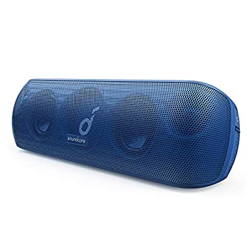 Anker Soundcore Motion+ Bluetooth Speaker with Hi-Res 30W Audio Extended Bass and Treble Wireless HiFi Portable Speaker with App Customizable EQ 12-Hour Playtime IPX7 Waterproof and USB-C Blue