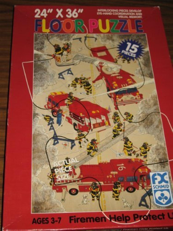 F.x.schmid 24 x36 Fireman Help Protect Us 15 Pc Floor Puzzle