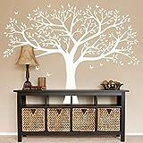 AIYANG Adhesivos gigantes para pared, diseño de árbol familiar, diseño de mariposa, pájaros, decoración para habitación de niños, habitación de guardería, dormitorio, sala de