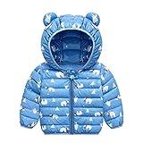 PROTAURI Baby Jacke Mantel Kinder Winterjacke Ohr mit Kapuze Jacke Warm Gepolstert Leicht 90cm Jungen Mädchen Outfits