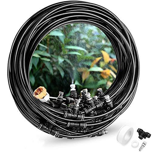 Gesentur Gartenbewässerungssystem Bewässerung Kit, Automatische Bewässerung Sprinkler Kühlsystem für Garten Blumenbeet Terrasse Pflanzen (8M)