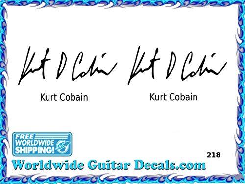 Kurt Cobain Famous guitar signature players guitar decal waterslide 218
