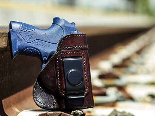 OutBags USA LS6PX4C (Brown-Right) Full Grain Heavy Leather IWB Conceal Carry Gun Holster for Beretta PX4 Storm Sub-Compact 9mm and .40 S&W. Handcrafted in USA.