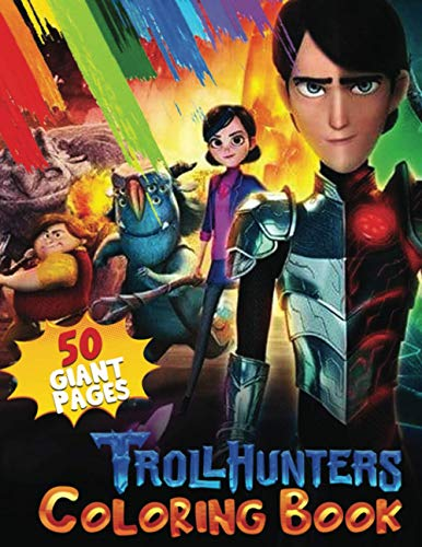 TrollHunters Coloring Book: The Best of Trollhunters Coloring Book for Kids and Fans – 50 GIANT Pages to Coloring - 25 High Quality Images