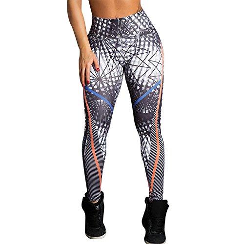 Tonsee Pantalons de Yoga, Femmes Taille Haute Yoga Fitness Leggings Running Gym Stretch Pantalon de Sport Pantalon