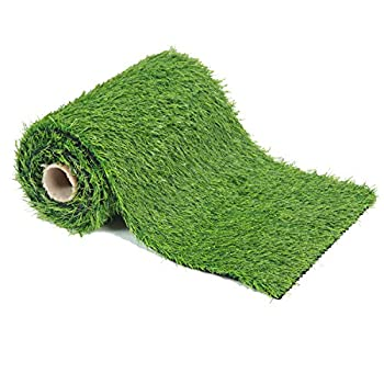 EcoMatrix Artificial Grass Table Runners Fake Grass Tabletop Synthetic Grass Rug Green Turf Carpet for Home Party Wedding Decor  1.31 x 4.92