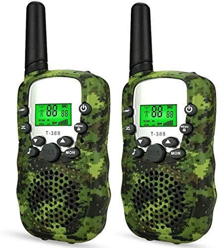 EUTOYZ Spielzeug für Jungen 4-12 Jahre Junge Spielzeug,Long Range Camouflage Walkies Talkies für Kinder Funkgerät Kinder Spielzeug Junge 4-6 Jahre Jungen Geschenk Camouflage-Green