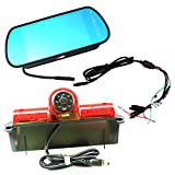 KNRAGHO Third Brake Light Placement Camera with Monitor fit for Express GMC Savana Cargo Van (with Monitor)