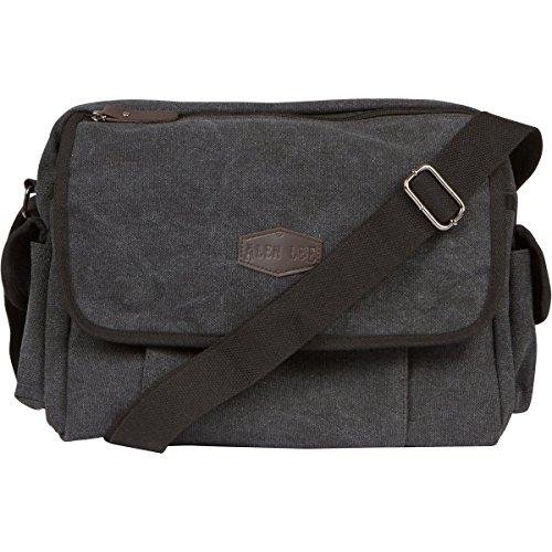 Canvas Messenger Bag For Men & Women by Alen Lee –13 in Laptop Shoulder Crossbody Satchel Bag