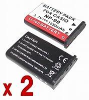 『2個セット』 Casio カシオ NP-90 互換 バッテリー の2個セット EXILIM EX-H20G EX-FH100 EX-H10 EX-H15 対応