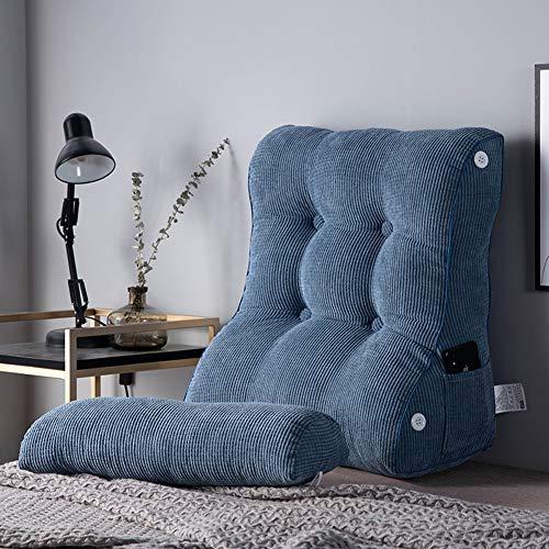 TENCMG Lesekissen - Tatami Bett Rückenlehne Taille Bett Kissen - PP Baumwolle gefüllt abnehmbar und waschbar,Bronze,45x55cm