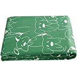 UOMNY Picnic Tablecloths Cotton Cartoon Dog Style Table Cloth Kitchen Rectangular Table Cover Home Dining Room Kitchen Rectangular Tablecloths Cafe Tablecloth,60X84 Inch Green Dog Birthday Table cover