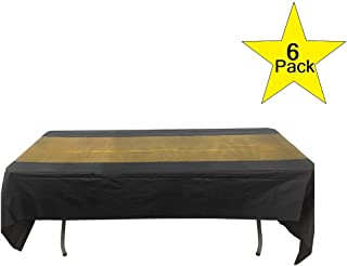 Pack of 6 Black and Gold Tablecover, 54