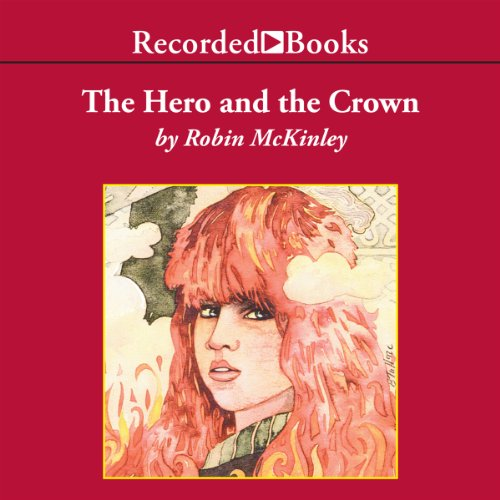 The Hero and the Crown audiobook cover art