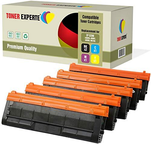 Pack de 5 TONER EXPERTE® Compatibles 406094 406097 406099 406106 Cartuchos de Tóner Láser para Ricoh Aficio SPC220N, SPC220S, SPC221SF, SPC222DN, SPC222SF, SPC240DN, SPC240SF