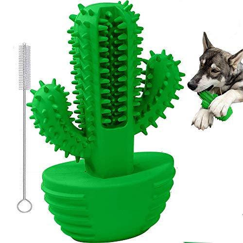 Focuses Hundezahnbürste, Hundespielzeug zum Reinigen von Zähnen, aus natürlichem Gummi, für große und mittelgroße Hunde