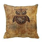 DSL&HXY Steampunk Owl Vintage Style R9144f7f6b8f94a5ebe631ba9e3853cbd I5fqz 8byvr Pillow Case