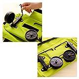 Plegable del tirón del bolso de la carretilla retráctil Compras carro portátil Bolsa de la compra Adecuado para Local comercial,Naranja
