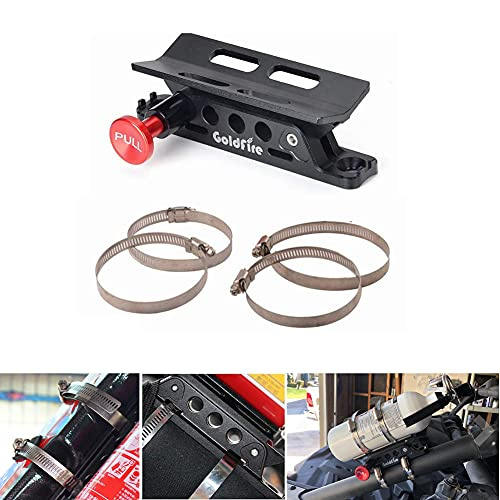 Goldfire Universal Vehicle Adjustable Quick Release Roll Bar Fire Extinguisher Mount Holder w/Clamps (1 Extra Set of Clamps, Total 6 Pieces)