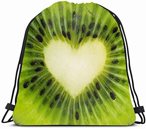 Drawstring Backpack String Bag 14X16 Closeup Nature Green...