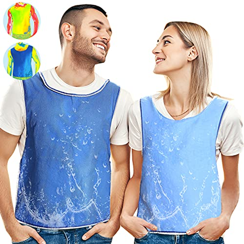 Cooling Vest Evaporative Cooling Clothes for Men Women, Reversible, No Refrigeration, No Electricity Cold Pack,Ice Cool Vest Body Cooling for MS Sunstroke Protective Working Summer